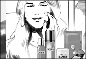 Lanny Markasky's Beauty / Fashion storyboard art