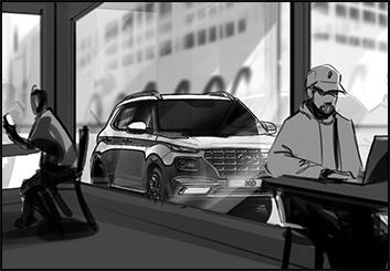 Lanny Markasky's Vehicles storyboard art