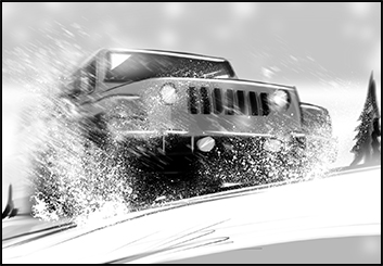 Lanny Markasky's Vehicles storyboard art