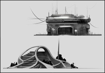 Lanny Markasky's Sci-Fi storyboard art