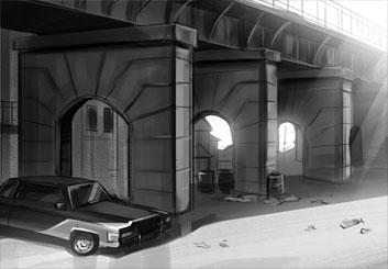 Lanny Markasky's Architectural storyboard art