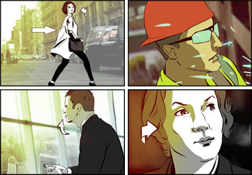 Lanny Markasky's People - Color  storyboard art