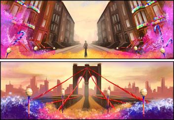 Lanny Markasky's Concept Environments storyboard art
