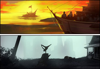 Lanny Markasky's Concept Environments storyboard art