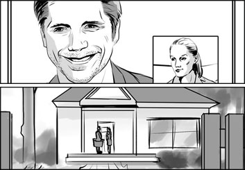 Lanny Markasky's People - B&W Tone storyboard art