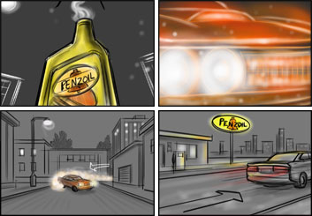 Jarid Boyce*'s Shooting Vehicles storyboard art