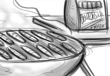Jarid Boyce*'s Food storyboard art