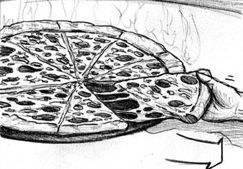 Jarid Boyce*'s Food storyboard art