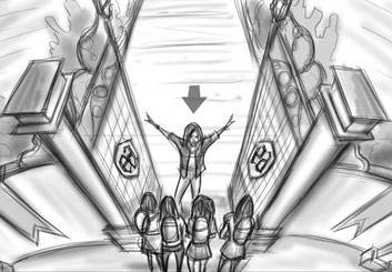 Jarid Boyce*'s Music Video storyboard art