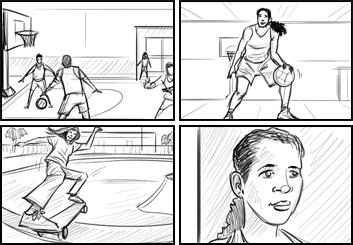 Jarid Boyce*'s Sports storyboard art
