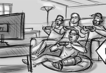 Jarid Boyce*'s Video Games storyboard art