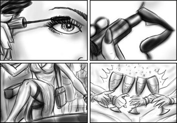 Jarid Boyce*'s People - B&W Tone storyboard art