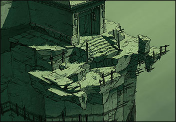 Polina Hristova's Concept Environments storyboard art