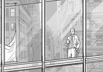 Matteo Stanzani's People - B&W Tone storyboard art