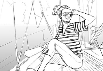 Matteo Stanzani's People - B&W Line storyboard art