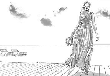Matteo Stanzani's People - B&W Tone storyboard art