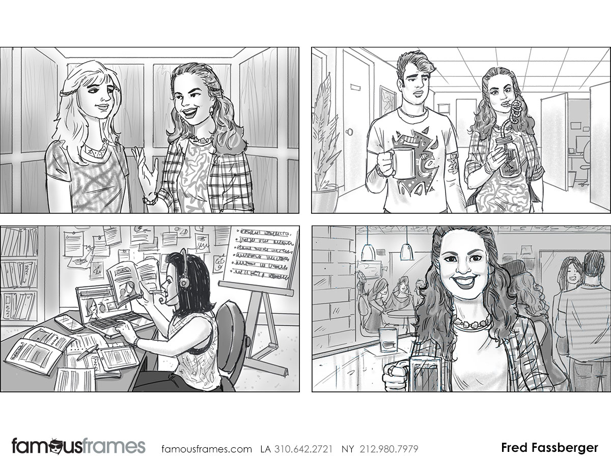 Fred Fassberger's People - B&W Tone storyboard art (Image #6721_113_1470703008)