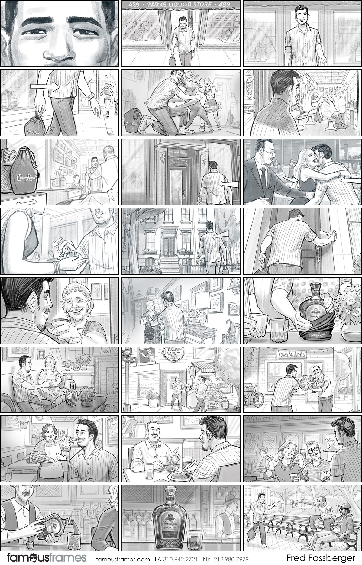 Fred Fassberger's People - B&W Tone storyboard art (Image #6721_113_1553811719)