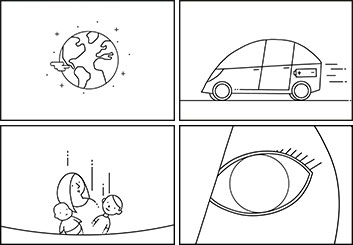 Fred Fassberger's Shooting Animation  storyboard art