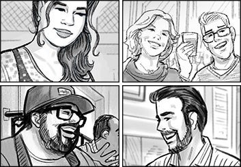 Fred Fassberger's People - B&W Tone storyboard art