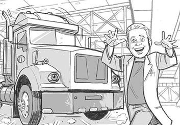 Fred Fassberger's People - B&W Tone storyboard art