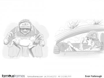 Evan Yarbrough's People - B&W Tone storyboard art