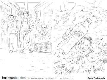 Evan Yarbrough's People - B&W Line storyboard art
