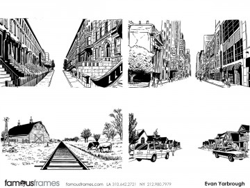 Evan Yarbrough's Environments storyboard art
