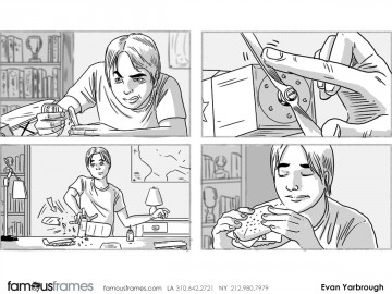 Evan Yarbrough's Kids storyboard art