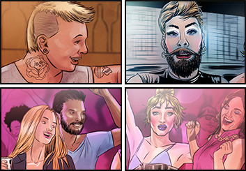 Evan Yarbrough*'s People - Color  storyboard art
