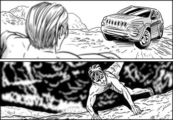 Evan Yarbrough*'s People - B&W Tone storyboard art