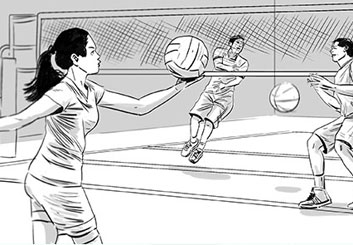 Evan Yarbrough's Sports storyboard art