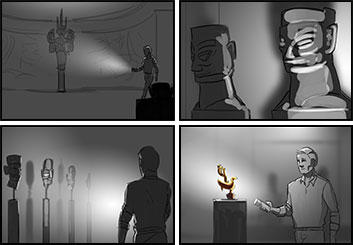 Anthony Satter's People - B&W Tone storyboard art