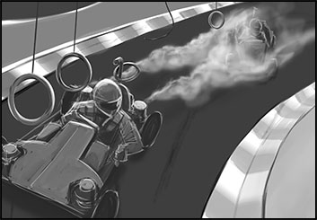 Anthony Satter's Action storyboard art