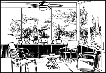 Anthony Satter's Architectural storyboard art
