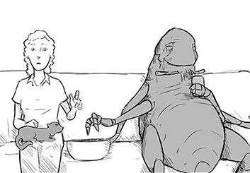 Anthony Satter's Characters / Creatures storyboard art