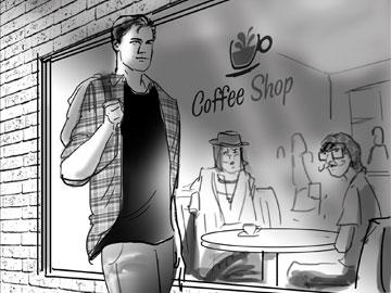 Kieran Bergin's People - B&W Tone storyboard art