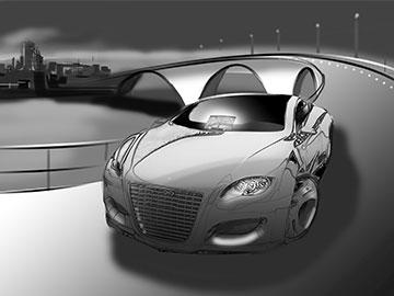 Kieran Bergin's Vehicles storyboard art