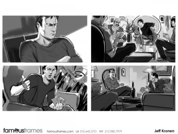Jeff Kronen's People - B&W Tone storyboard art