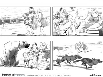 Jeff Kronen's Animation storyboard art