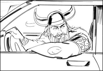 Jeff Kronen's People - B&W Line storyboard art