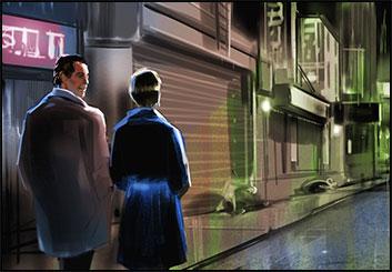 Jeff Kronen's Environments storyboard art