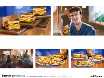 Jeff Kronen's Food storyboard art