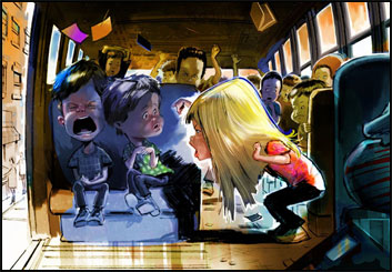 Jeff Kronen's Kids storyboard art