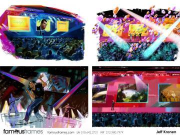 Jeff Kronen's Music Video storyboard art