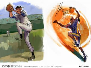Jeff Kronen's Sports storyboard art