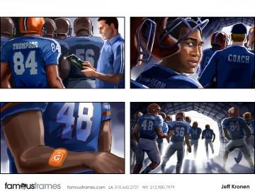 Jeff Kronen's Sports storyboard art