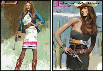 Jeff Kronen's Beauty / Fashion storyboard art