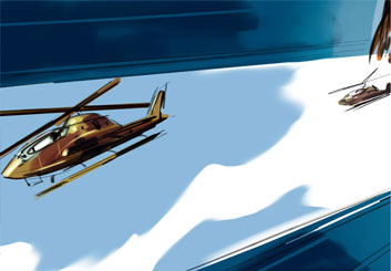 Jeff Kronen's Vehicles storyboard art