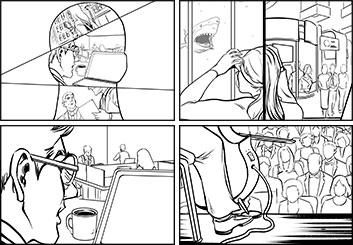Kensuke Okabayashi's People - B&W Line storyboard art